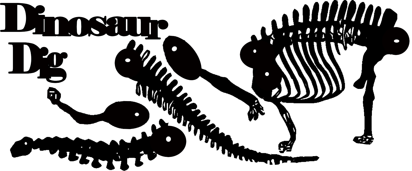 Dinosaur diplodicus skeleton Large 250 x 120  sold individually
